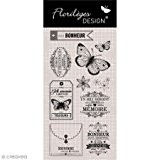 Florilèges Design FDCL115005 Tampon Scrapbooking Clear Best Of 4 Beige 25 x 11,5 x 0,5 cm