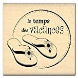 Florilèges Design FE111037 Tampon Scrapbooking le Temps Des Vacances Beige 6 x 6 x 2,5 cm