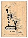 Florilèges Design FE111125 Tampon Scrapbooking Voyager en Toute Liberté Beige 7 x 5 x 2,5 cm