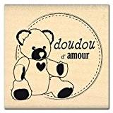 Florilèges Design FE111130 Tampon Scrapbooking Doudou d'Amour Beige 6 x 6 x 2,5 cm