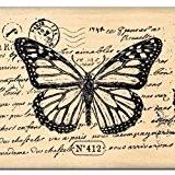 Florilèges Design FE112019 Tampon Scrapbooking Papillon 412 Beige 6 x 8 x 2,5 cm