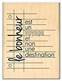 Florilèges Design FE112048 Tampon Scrapbooking Voyage Bonheur Beige 8 x 6 x 2,5 cm