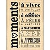 Florilèges Design FE113067 Tampon Scrapbooking Moments à Célébrer Beige 8 x 6 x 2,5 cm