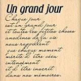Florilèges Design FE212019 Tampon Scrapbooking Un Grand Jour Beige 7 x 7 x 2,5 cm