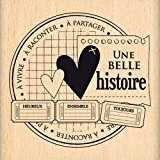 Florilèges Design FE212043 Tampon Scrapbooking Histoire à Partager Beige 7 x 7 x 2,5 cm