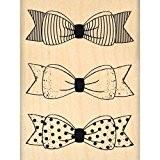 Florilèges Design FE214003 Tampon Scrapbooking Trois Petits Nœuds Beige 8 x 6 x 2,5 cm