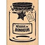 Florilèges Design FE214069 Tampon Scrapbooking Réserve de Bonheur Beige 7 x 5 x 2,5 cm
