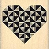 Florilèges Design FE214094 Tampon Scrapbooking Coeur Géométrique Noir 6 x 6 x 2,5 cm