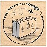 Florilèges Design FF210007 Tampon Scrapbooking Souvenirs de Voyage Beige 8 x 8 x 2,5 cm