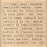 Florilèges Design FF212081 Tampon Scrapbooking Mille Mots Beige 8 x 8 x 2,5 cm
