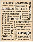 Florilèges Design FG210006 Tampon Scrapbooking Pèle Mêle Voyage Beige 10 x 8 x 2,5 cm