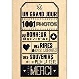 Florilèges Design FG214098 Tampon Scrapbooking Alors Merci Beige 10 x 7 x 2,5 cm