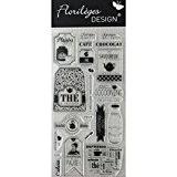 Florilèges Design - Tampon clear stamps thé et café - Promo - 7 x 2 cm