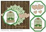 Forever Pendentif en forme de cage à oiseau Vert/doré Par Jeanette Goodman