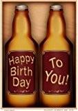 Format A4 Carte d'anniversaire-Coffret cadeau bière Décoration Par Carol Clarke