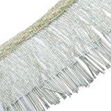 Fournitures Blanc Tapisserie décoratif perlée Fringe Ribbon Rideau Craft Par 1 Yd