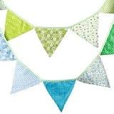 G2PLUS Bannière Vintage formée de fanions triangulaires en tissu multicolore pour fêtes d'anniversaire/cérémonie/cuisine/chambre longueur 3 m