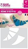 Gabarit pour pâte polymère A5 - Reine d'Egypte - Graine créative