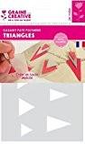Gabarit pour pâte polymère A5 - Triangle - Graine créative