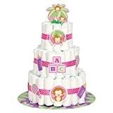 Gâteau de couches de bébé singe de Fille Kit, Lot de 25