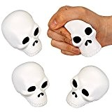 German Trendseller® - 1 x ball anti stress crâne? en mousse ?petit cadeau ?accessoire de Halloween? réduire le stress ?calmer ...