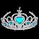 German Trendseller® - 1 x couronne cristal de glace?compris un sceptre flocon de neige?bijoux pour petites princesses?diadème?tiare? couronne et sceptre