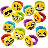 German Trendseller® - 12 x bagues pour enfants?emoji ?smiley? émoticons ?drôle faces? l'anniversaire d'enfant? petit cadeau