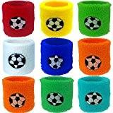 German Trendseller® - 12 x bandeaux de poignet?bracelets de sport?bandeaux protège-poignets? pour petits footballeurs?petit cadeau? l'anniversaire d'enfant