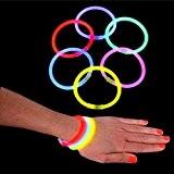 German Trendseller® - 12 x bracelets lumineux?glow sticks?bâtons fluorescents?snaplight?mélange de couleurs lumineux