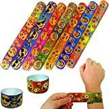 German Trendseller® - 12 x emoji bracelets à claquer?mélange de couleurs?l'anniversaire d'enfant?petit cadeau?pochettes surprises?emoticons?smileys?happy faces