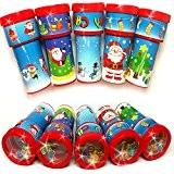 German Trendseller® - 12 x kaléidoskopes de Noel?motifs de Noel?perles de couleur ?petits cadeau ?enfants