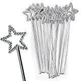 German Trendseller® - 12 x maqiques sceptres pour petites princesses?baguette fée d'etoile ?carnaval?souvenir cadeau?anniversaire d'enfant