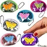 German-Trendseller ® 12 x porte-monnaies papillon ?pour enfants? petit cadeau? l'anniversaire d'enfant? mini bourse? diffèrentes couleurs