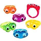German Trendseller® - 24 x mini bagues avec yeux mobiles ?pour enfants?mélange de couleurs? petit cadeau?l'anniversaire d'enfant?