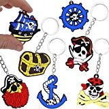 German Trendseller® - 24 x porte-clés pirats?la fête des pirates?l'anniversaire d'enfant ?pour petits cadeaux ?24 pcs