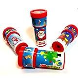 German Trendseller® - 4 x kaléidoskopes de Noel?motifs de Noel?perles de couleur ?petits cadeau ?enfants