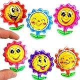German Trendseller® - 6 x boule de labyrinthe en forme de fleurs?ball maze puzzle?smiley fleurs?mélange de couleurs?? l'anniversaire d'enfant?petit cadeau?drôles ...