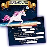 German Trendseller® - 6 x cardes d'invitation?licorne?petit cadeau? l'anniversaire d'enfant?idée cadeau? 6 invitations