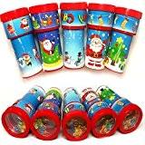 German Trendseller® - 6 x kaléidoskopes de Noel?motifs de Noel?perles de couleur ?petits cadeau ?enfants