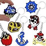 German Trendseller® - 6 x porte-clés pirats?la fête des pirates?l'anniversaire d'enfant ?pour petits cadeaux ?6 pcs