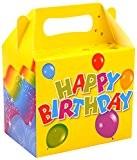 German-Trendseller ® - 8 x boîtes anniversaire Happy Birthday ?Party Box?avec poignée pour remplir? l'anniversaire d'enfant?ballon de baudruche