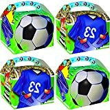 German-Trendseller ® - 8 x boîtes en carton de footbal avec poignée?tricot ?pour cadeau-souvenir?Party Box?l'anniversaire d'enfant