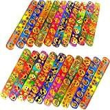 German Trendseller® - 8 x emoji bracelets à claquer?mélange de couleurs?l'anniversaire d'enfant?petit cadeau?pochettes surprises?emoticons?smileys?happy faces
