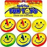 German Trendseller® - 8 x toupies smiley? spinning smiley?jaune face ?l'anniversaire d'enfant ?give away? petit cadeau