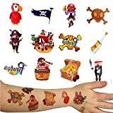 German Trendseller® - 96 x tatouages temporaires de pirates?tatouages ephémères?chasse au trésor ?bouteille de la mer ?crâne? bateau de pirates? ...