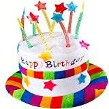 German Trendseller® - chapeau anniversaire avec bougies?Happy Birthday coiffure? gâteau chapeau?chapeau de la fête? attrape