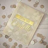 Ginger Ray Ivoire & Or confettis papier de soie enveloppe Soirée ou mariage Confetti Décoration-Vintage Affair
