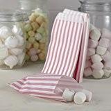 Ginger Ray rayé rose et blanc bonbon sucré Sacs - dentelle vintage