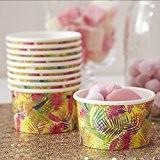 Ginger Ray Tropical Glace Crème/friandises de pots Idéal pour les fêtes d'été, barbecue et les soirées à thème hawaïen-Flamingo Fun