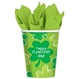 """Gobelet cartonné """"Happy St. Patrick's Day"""" 18 pièces"""